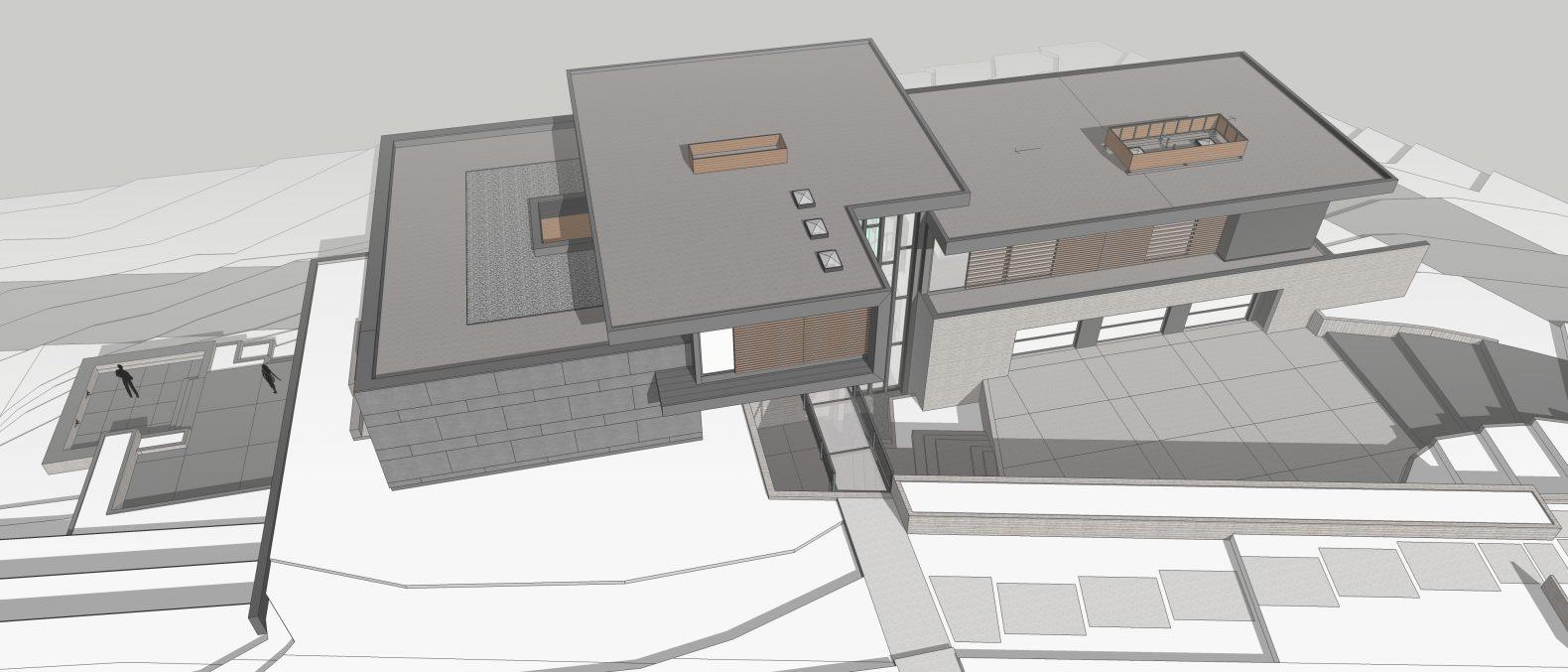 modern architecture rendering