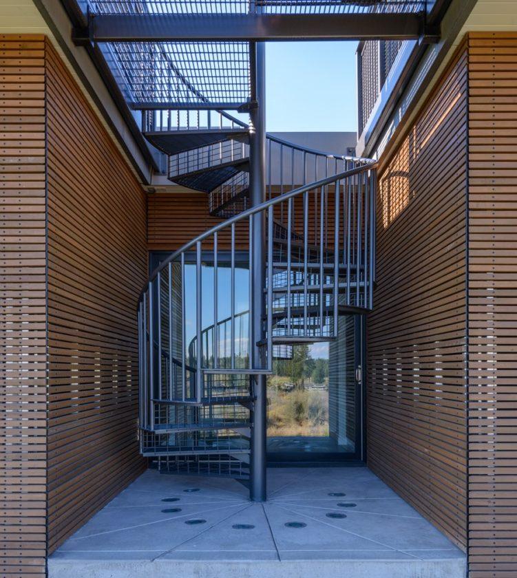 steel spiral stair modern