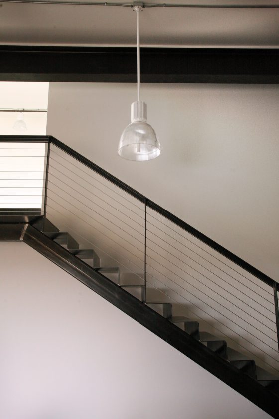 custom steel loft stair