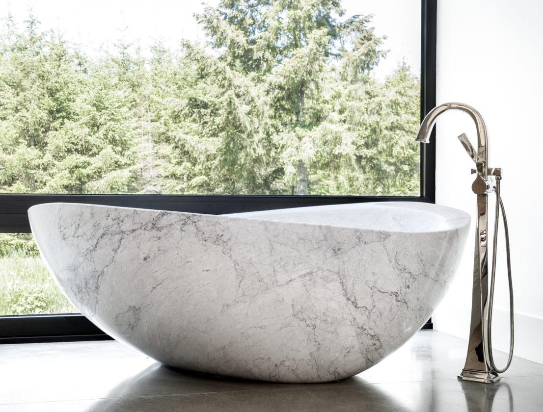 modern bath tub stone