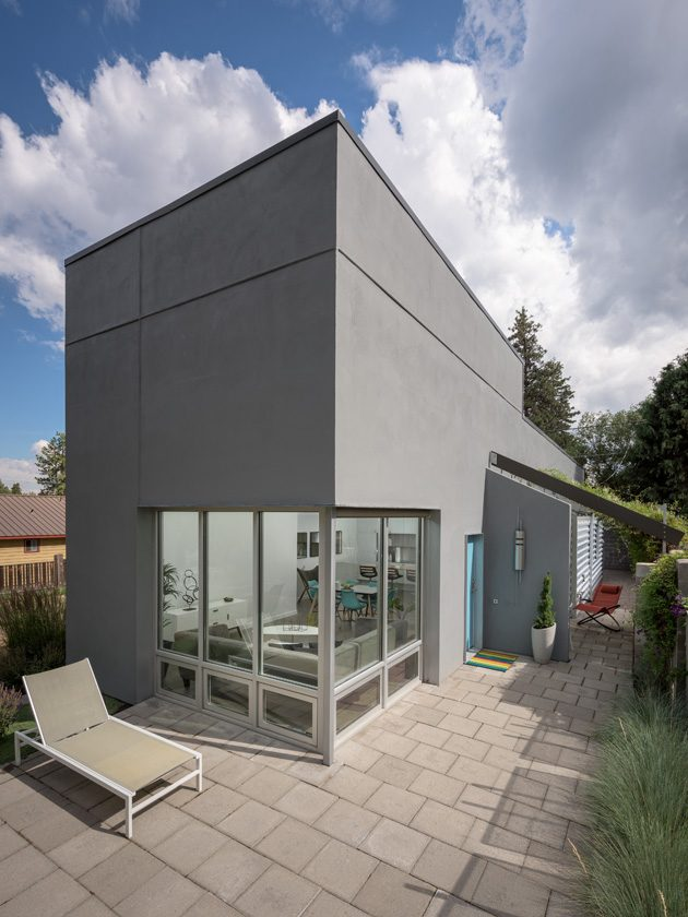 modern architecture stucco
