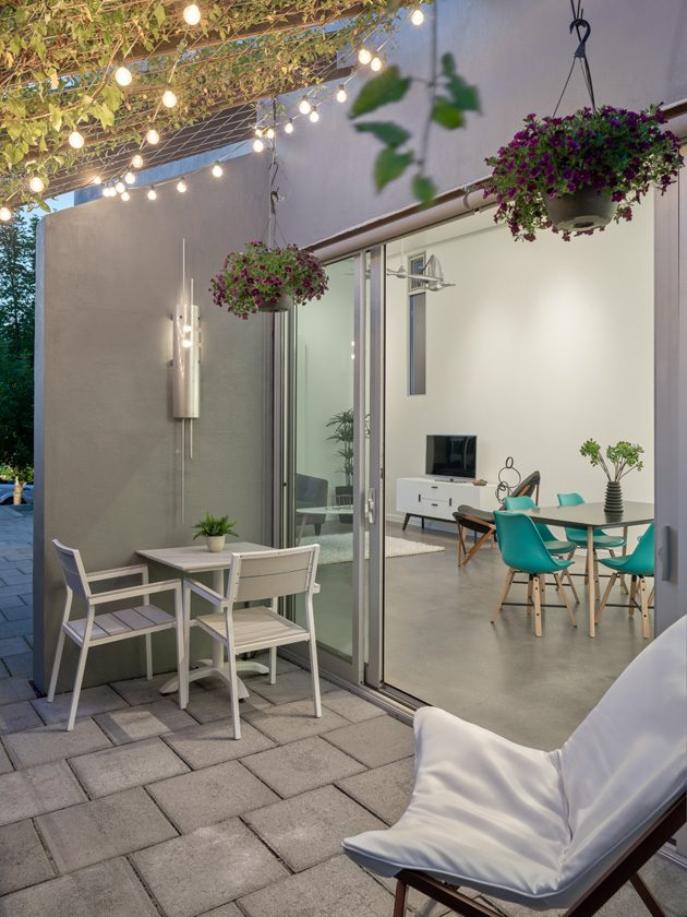 small house outdoor space