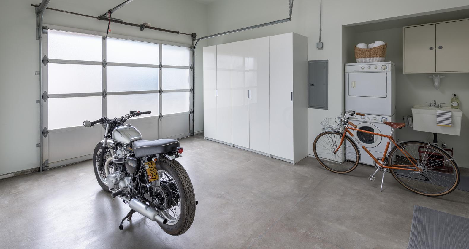 modern garage vintage motorcycle