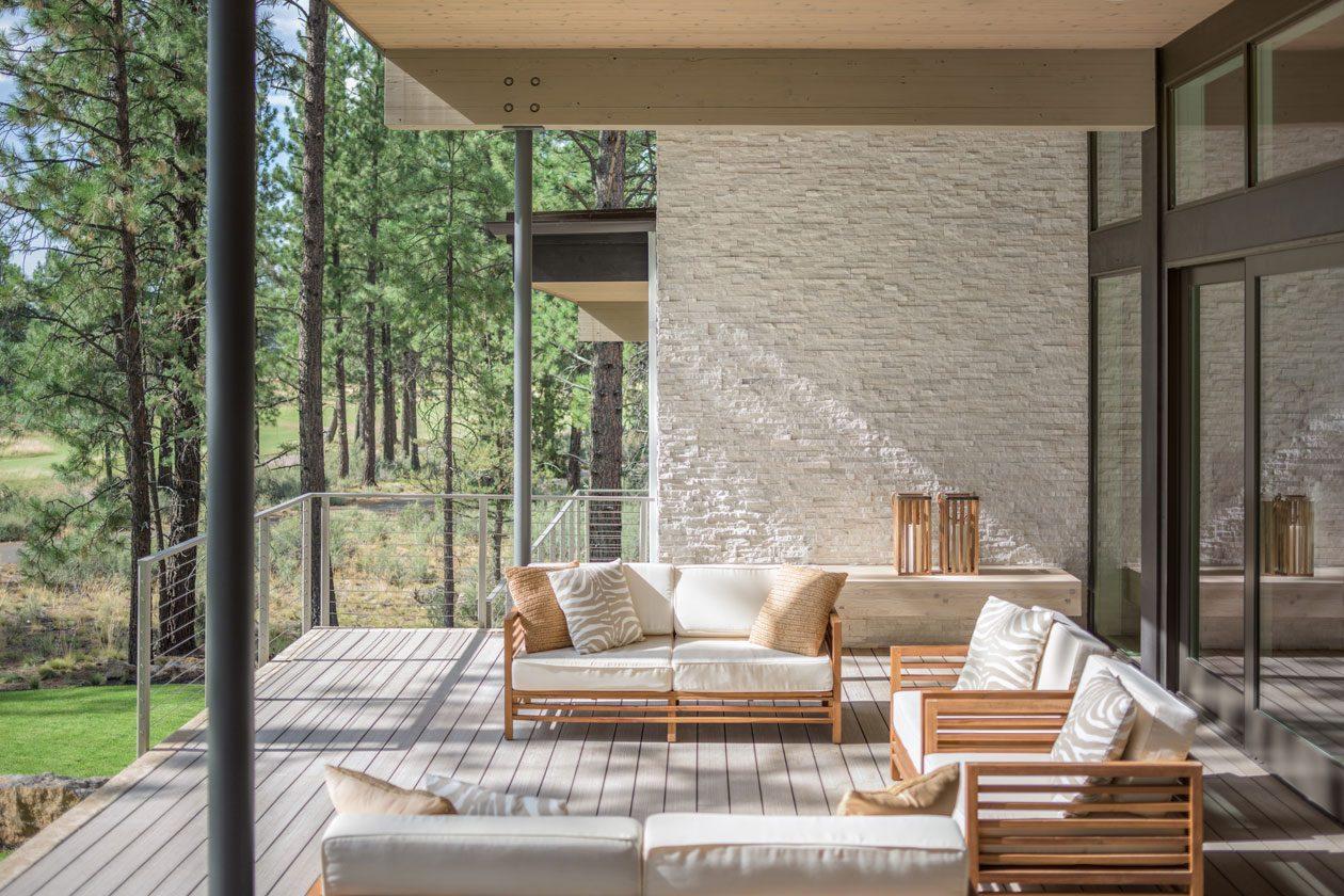 indoor outdoor living modern modern architecture bend oregon tetherow golf dream home steel bridge mountain bike outdoor living