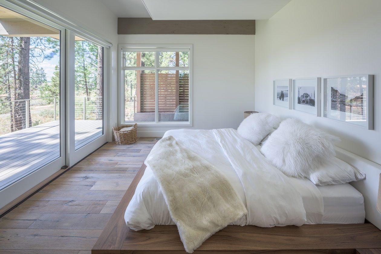 modern bedroom warm modern architecture bend oregon tetherow golf dream home outdoor living
