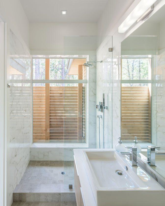 modern shower daylight