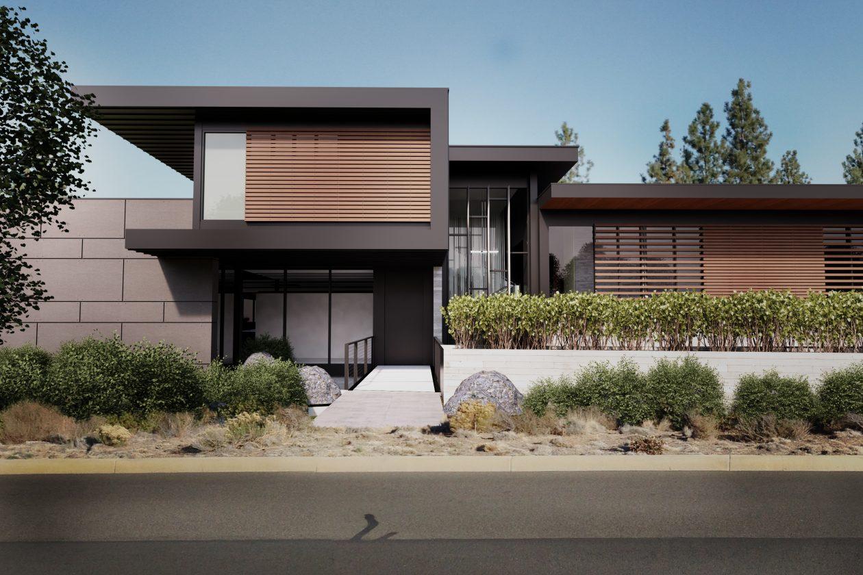 modern house entry